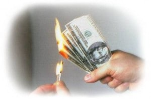 Picking a bad annuity is like burning money